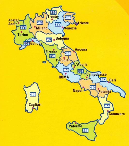 Regional Italy Map.Sicily Regional Italy Map 365 The Tasmanian Map Centre