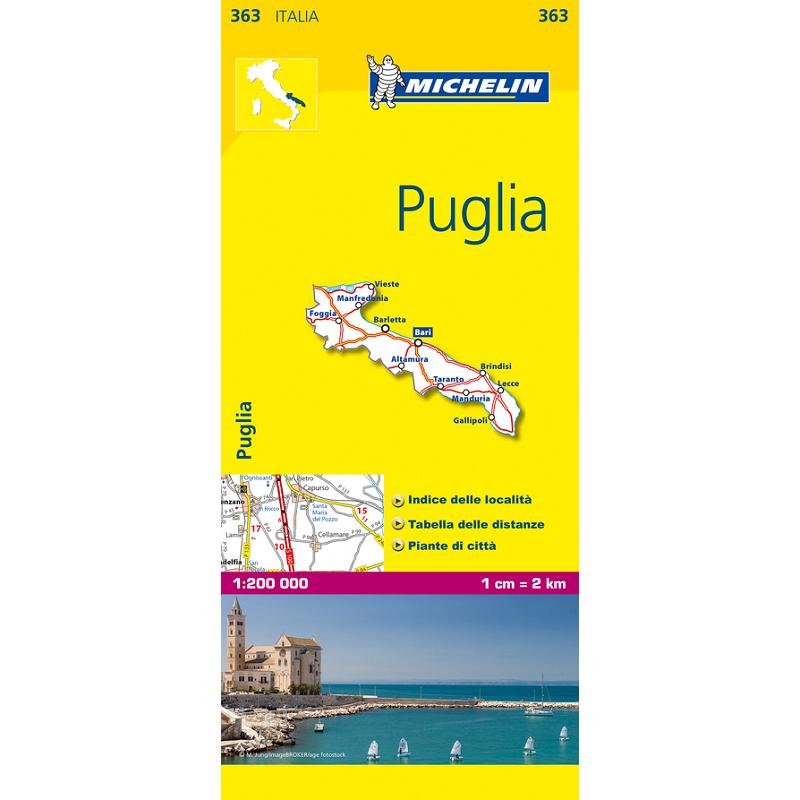 Region Italy Map.Puglia Region Italy Map 363 The Tasmanian Map Centre