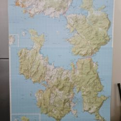 Tasman and Forestier Peninsula Wall Map