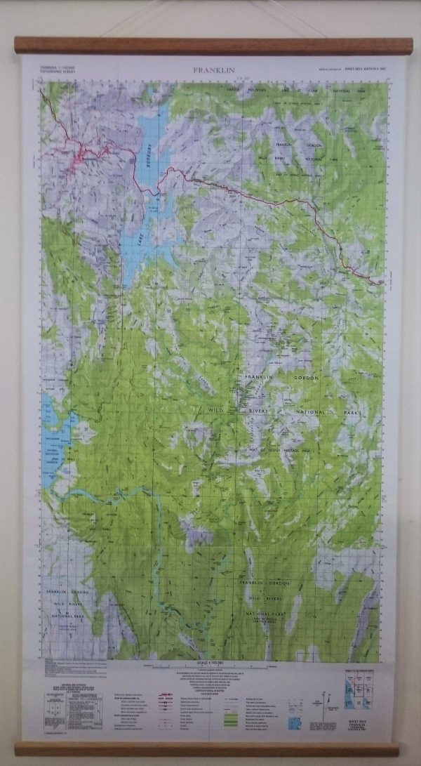 Franklin River Wall Map
