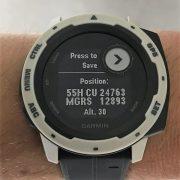 Garmin Instinct MGRS Display