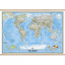 World Classic Wall Map on hangers