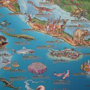 Prehistoric World Illustrated Map Sample