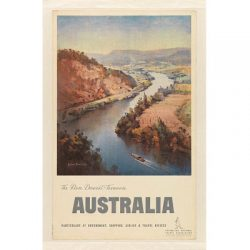 Derwent River Tasmania Travel Print