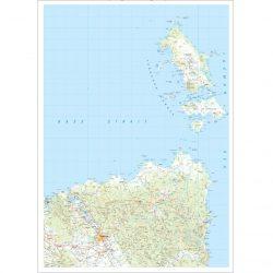 North East Tasmania Topographic Map Flat