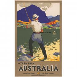 Tasmania Australia Particulars at Shipping Poster