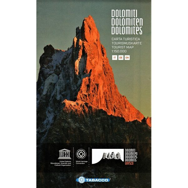 Dolomites Tourist Map