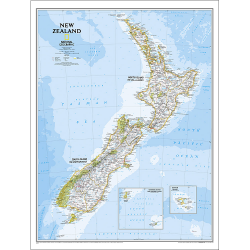 New Zealand Classic Wall Map