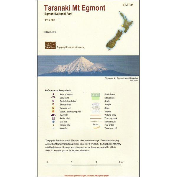 Taranaki Mt Egmont Map