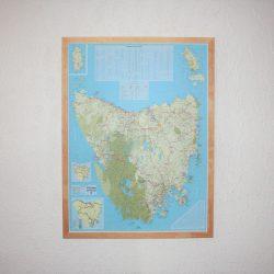 Tasmania Map Pinboard