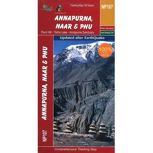 Annapurna Naar & Phu Trekking Map