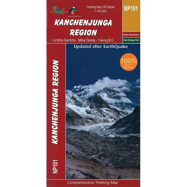 Kanchenjunga Region Map Nepal NP101