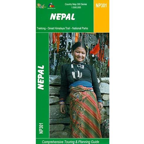 Nepal Trekking Map 9789993347668