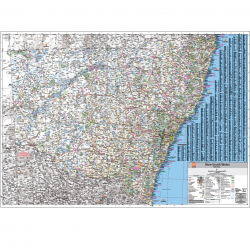 New South Wales Flat State Map