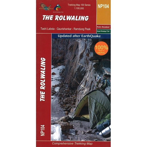 Rolwaling Region Trekking Map 9789937649773