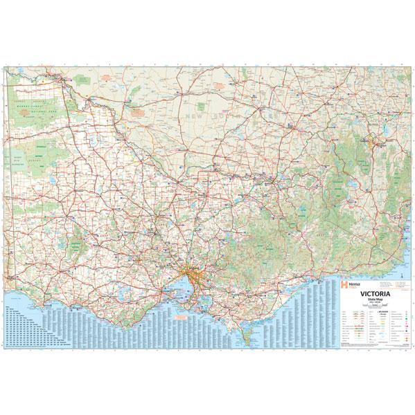 Victoria State Map Flat