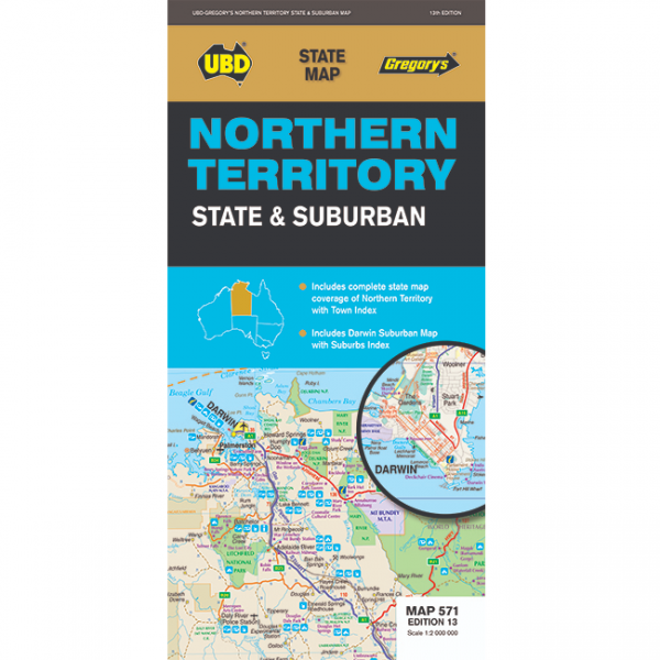 Northern Territory State & Suburban Map 571