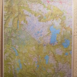 Central Highlands Tasmania Wall Map