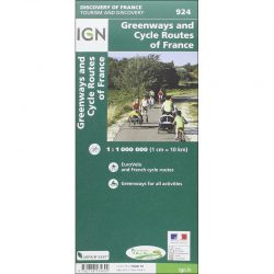 Greenways and Cycle Routes of France Map