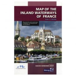 Map of the Inland Waterways of France 9781846234880