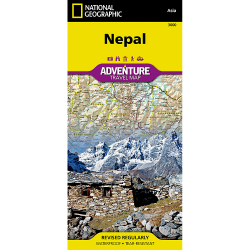 Nepal Adventure Travel Map