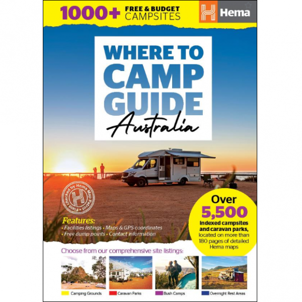 Where to Camp Guide Australia 9781925625936 - Hema