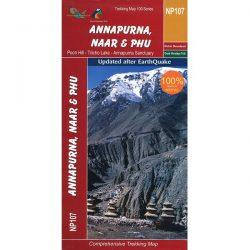 NP107 Annapurna, Naar & Phu Trekking Map, Nepal
