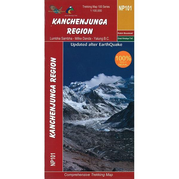 NP101 Kanchenjunga Region Map, Nepal