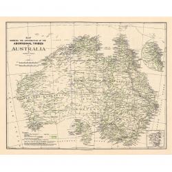Aboriginal Tribes of Australia Map 1940