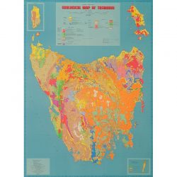 Tasmania Geology State Folded Map