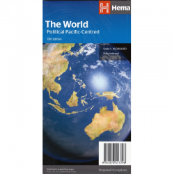 World Pacific Centred Folded Map Hema 13e
